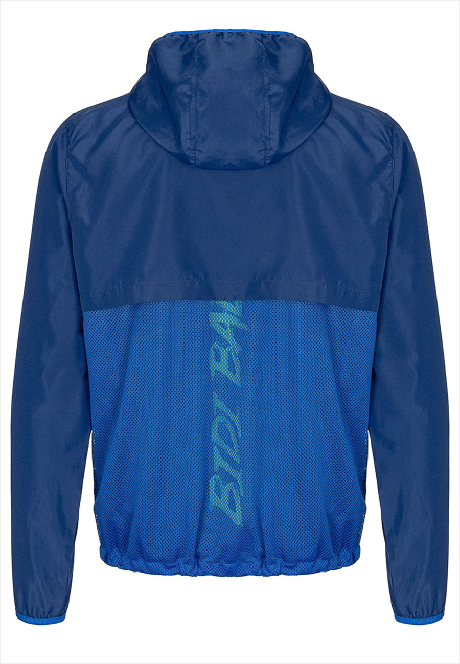 Bidi Badu Kapuzenjacke Mace Tech Magic Windbreaker dunkelblau/grün fluo Bild 3