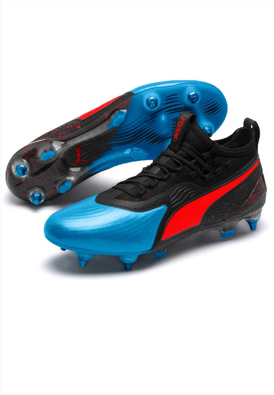 Puma Fußballschuh One 19.1 Mx SG rot/blau Bild 7
