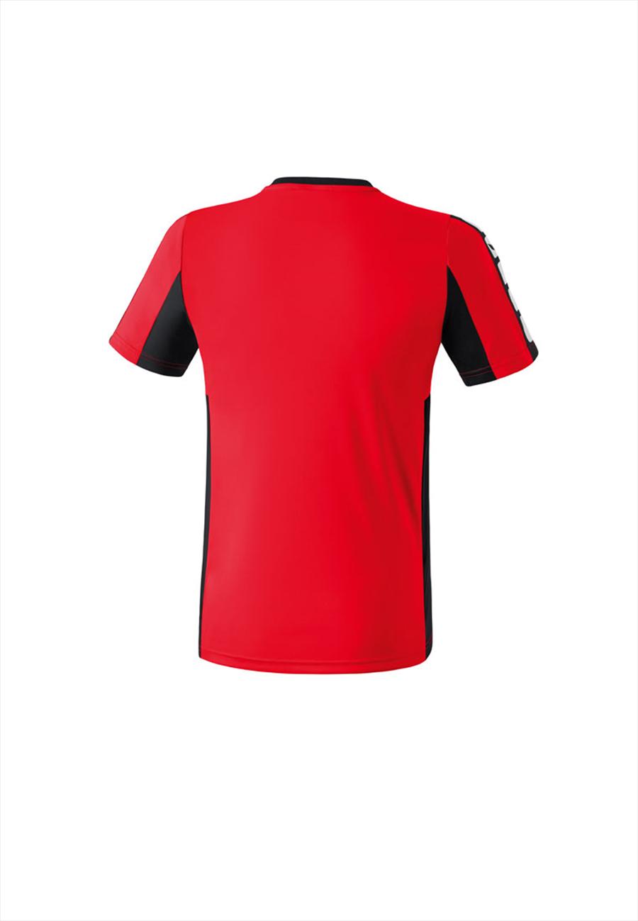 Erima Kinder Shirt Classic 5-Cubes rot/schwarz Bild 3