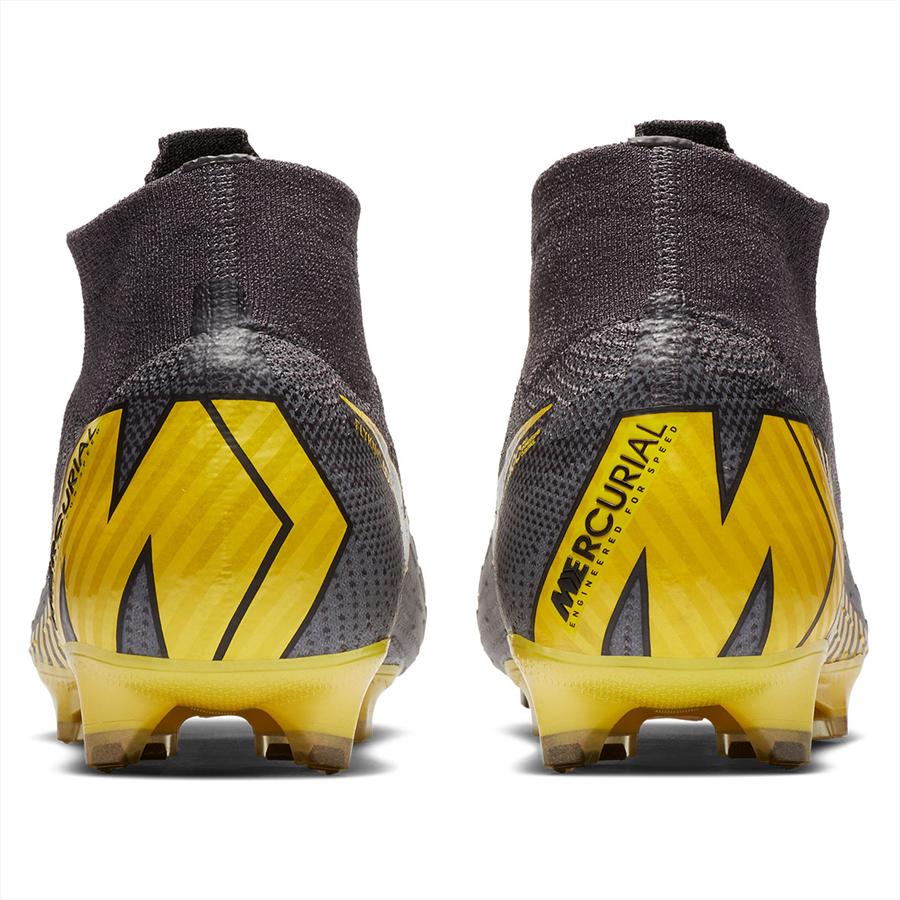 Nike Fußballschuh Mercurial Superfly VI Elite FG dunkelgrau/gelb Bild 7