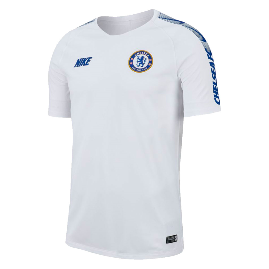 Nike Chelsea FC Trainingsshirt Breathe Squad Top weiß/blau Bild 2