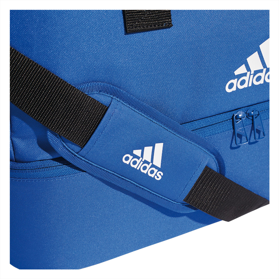 adidas Sporttasche Tiro Duffelbag Bottom Compartment M blau/weiß