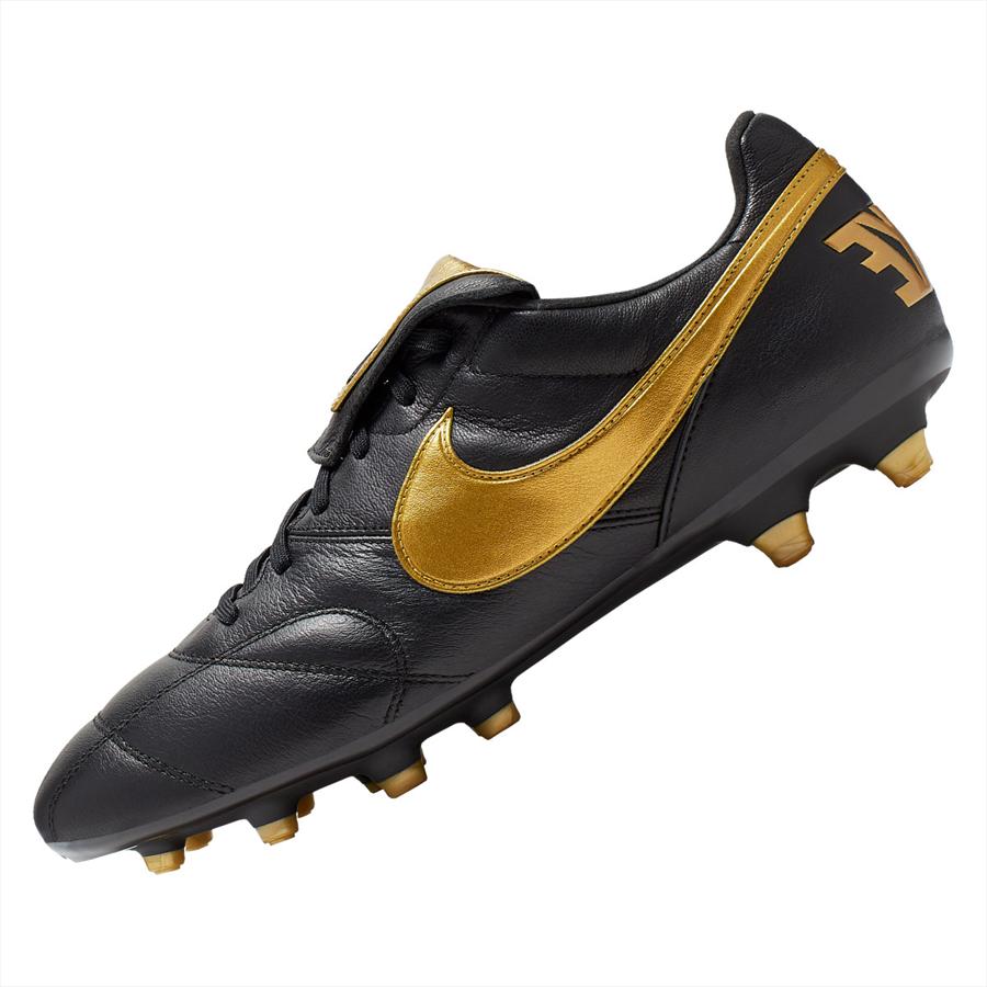 Nike Fußballschuh The Nike Premier II FG schwarz/gold Bild 3