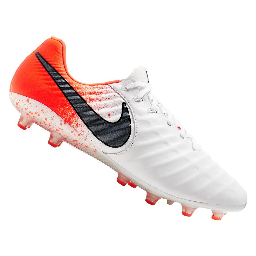Nike Fußballschuh Tiempo Legend VII Elite AG Pro Kunstrasen weiß/orange Bild 2