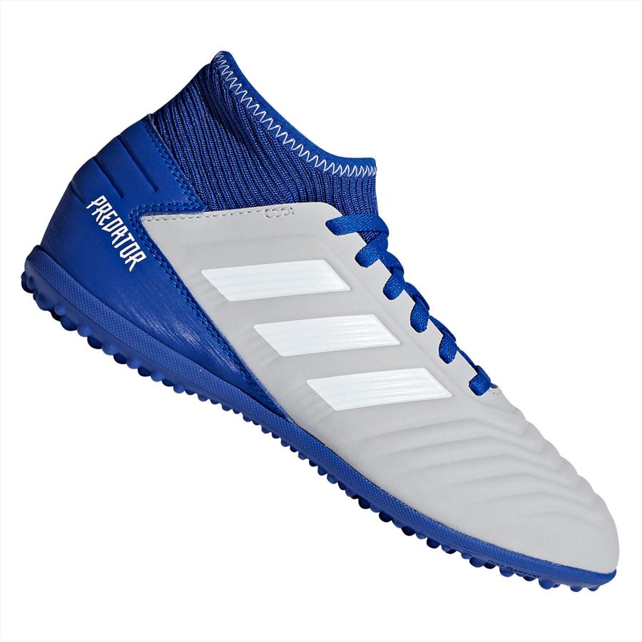 adidas Kinder Fußballschuh Predator 19.3 TF J Kunstrasen grau/blau Bild 2
