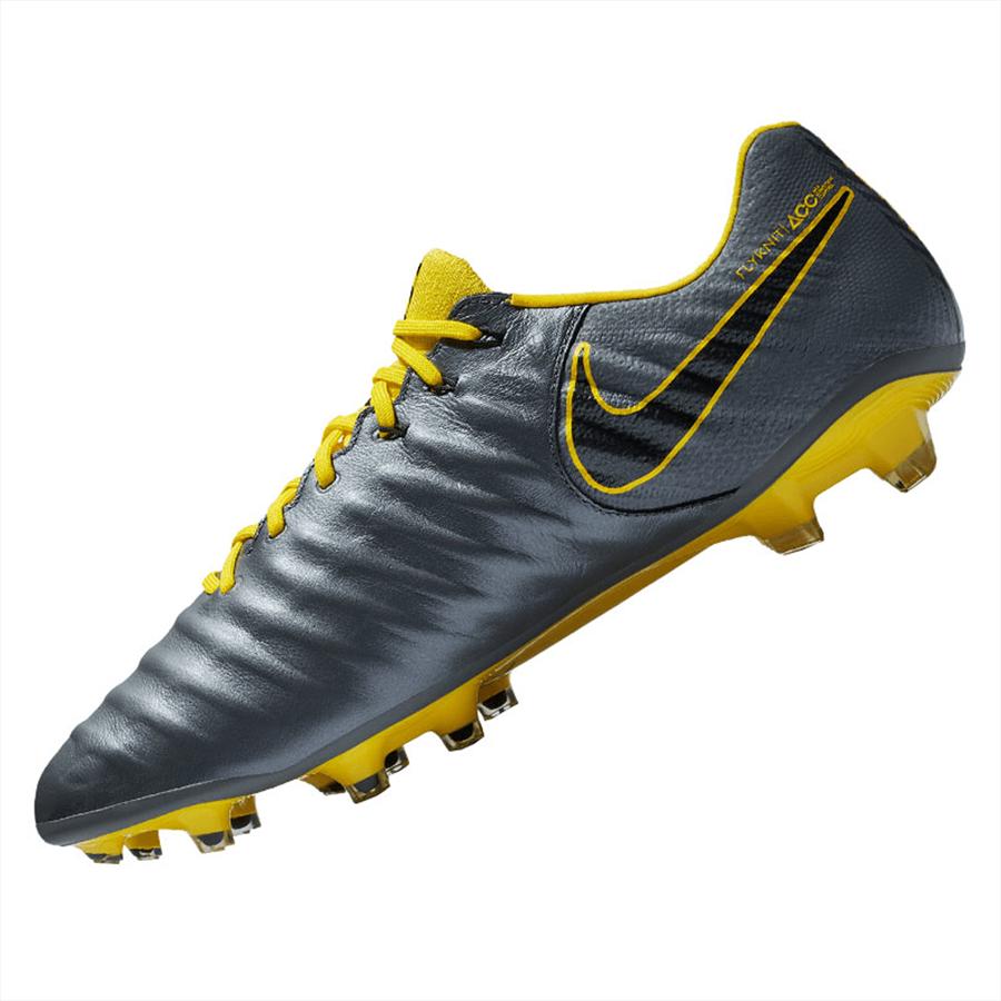 Nike Fußballschuh Tiempo Legend VII Elite FG dunkelgrau/gelb Bild 3