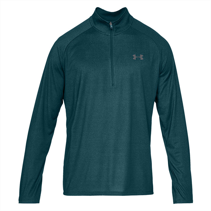 Under Armour Trainingsoberteil Tech 2.0 1/2 Zip petrol/grau Bild 2