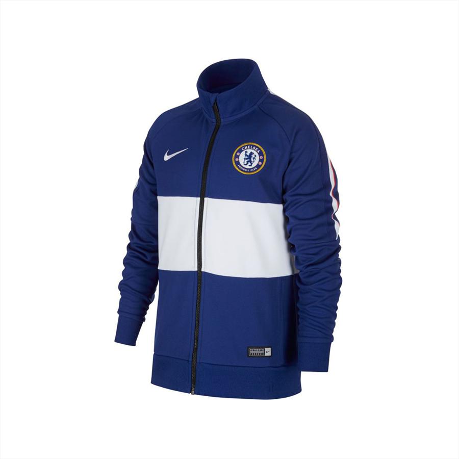Nike Chelsea FC Kinder Fanjacke I96 Jacket blau/weiß Bild 2