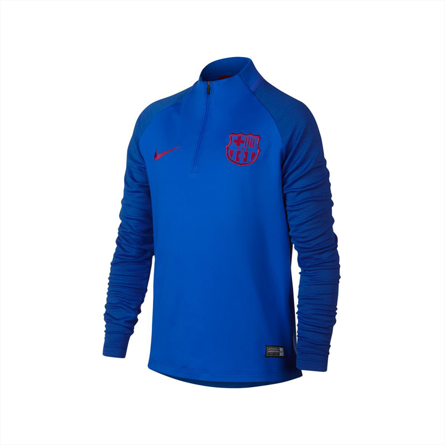 Nike FC Barcelona Kinder Trainingsoberteil Strike Drill Top blau/rot Bild 2