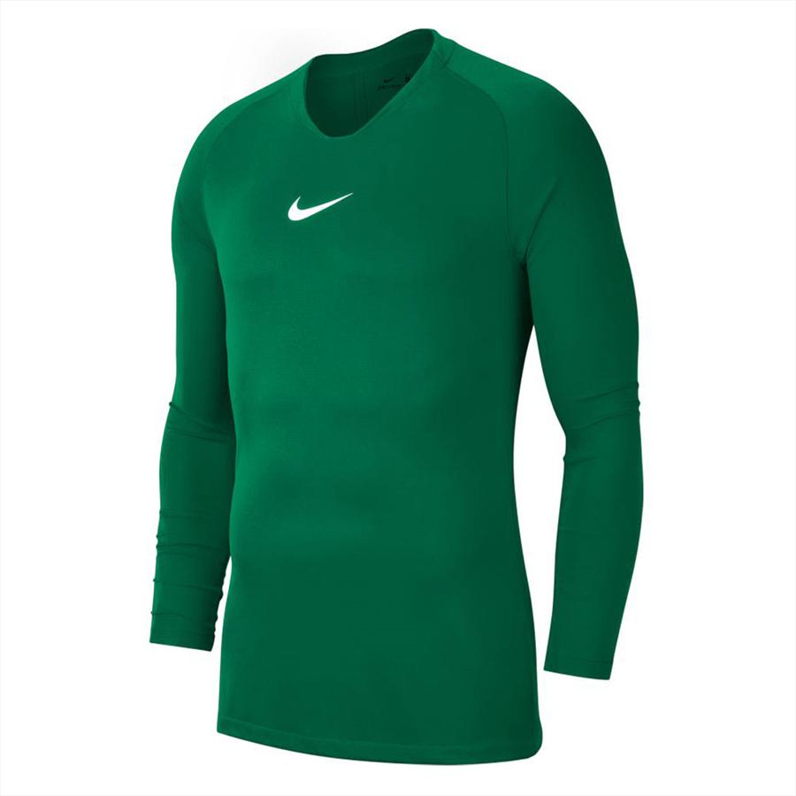 Nike Langarm Funktionsshirt Park First Layer grün/weiß Bild 2