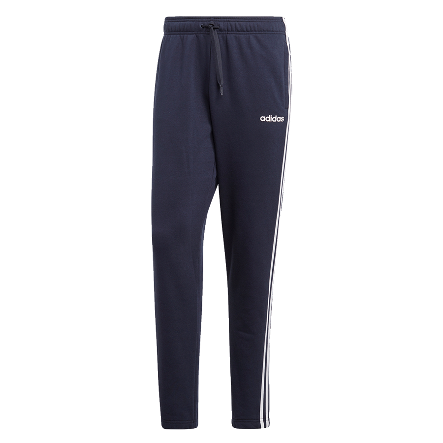 adidas Jogginghose Essentials 3S Open Hem Tapered Pant dunkelblau/weiß