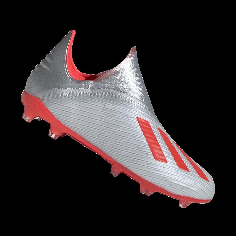 adidas Kinder Fußballschuh X 19+ FG J silber/rot Bild 2