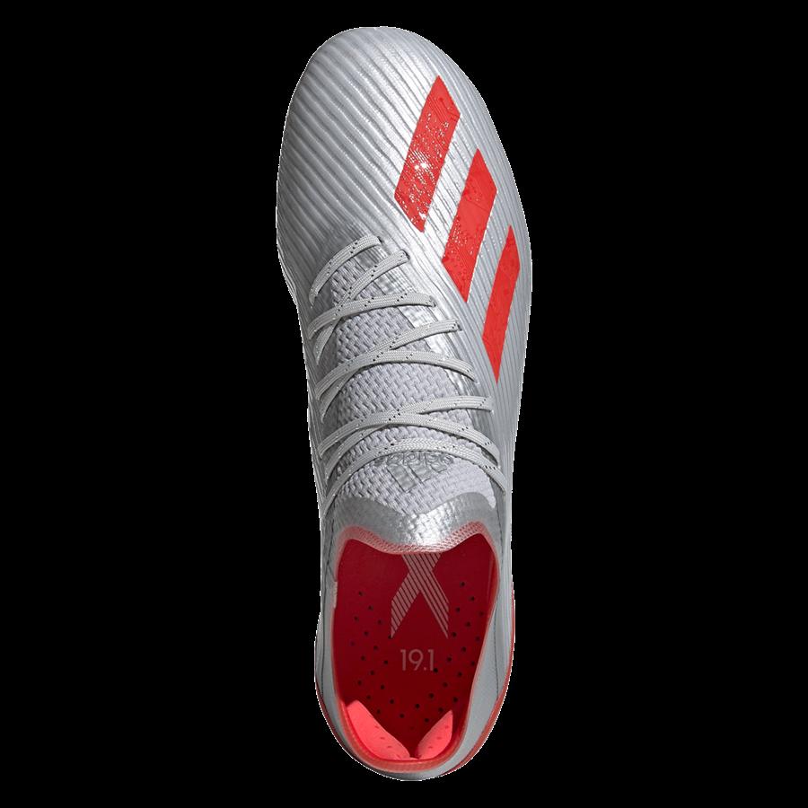 adidas Fußballschuh X 19.1 FG silber/rot Bild 4