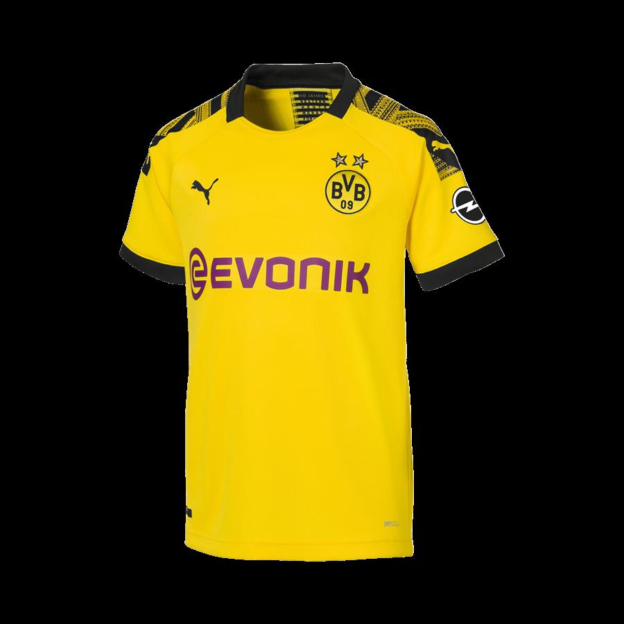 Puma BVB Kinder Heim Trikot 2019/20 gelb/schwarz Bild 2