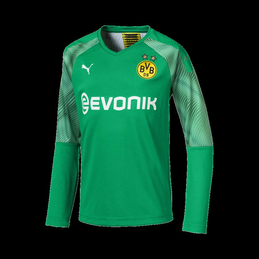 Puma BVB Kinder Torwart Trikot 2019/20 grün/weiß Bild 2