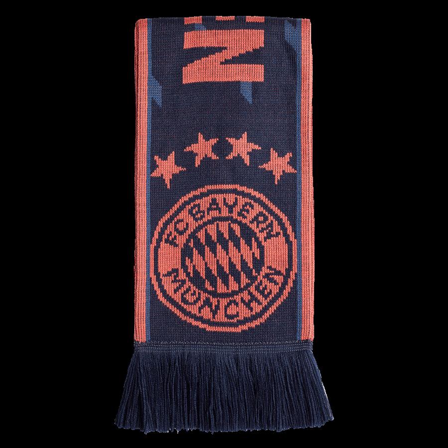 adidas FC Bayern München Fanschal dunkelblau/rot Bild 2