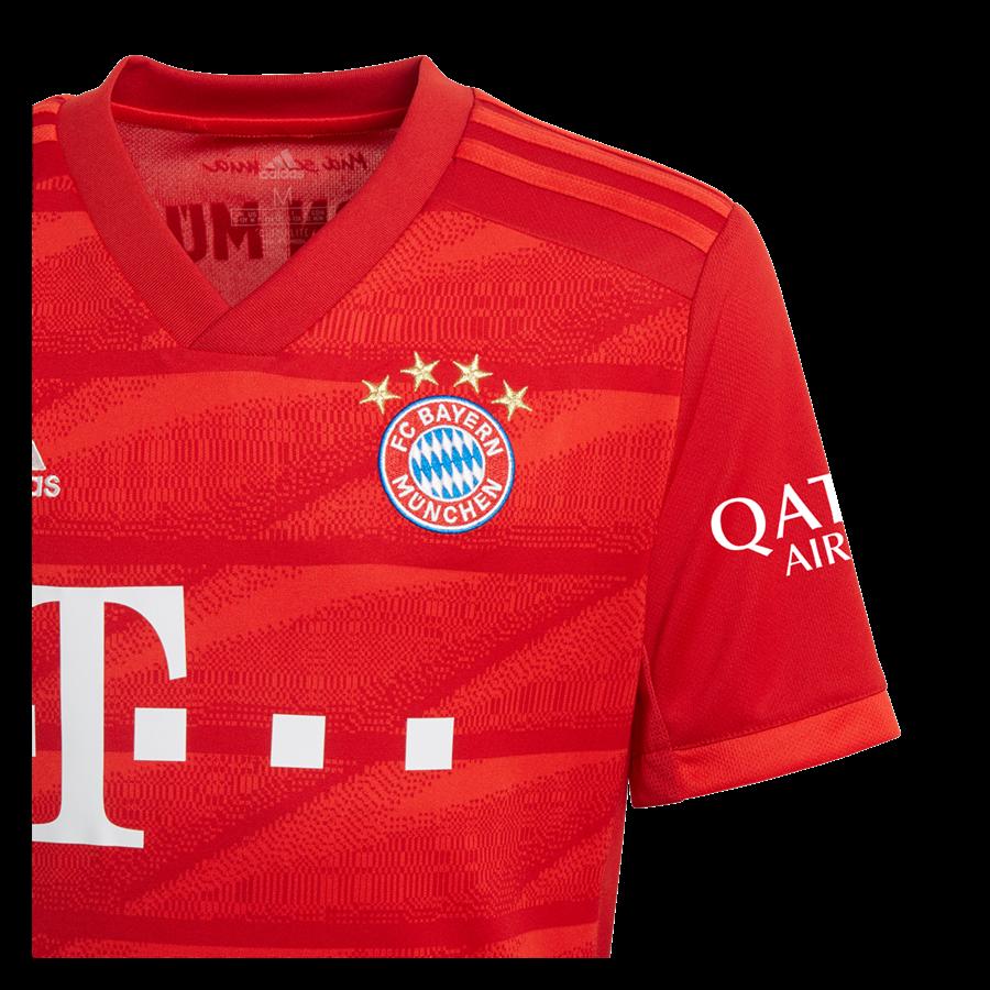adidas FC Bayern München Herren Heim Trikot 2019/20 rot/weiß Bild 4