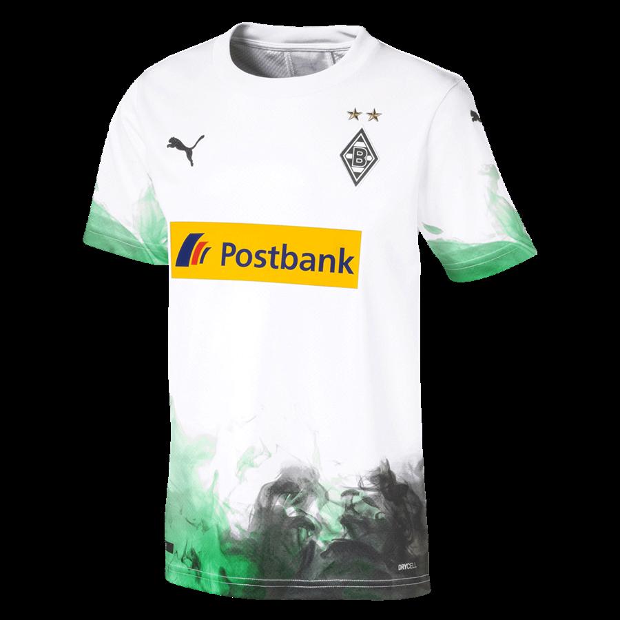 Puma Borussia Mönchengladbach Kinder Heim Trikot 2019/20 weiß/grün Bild 2