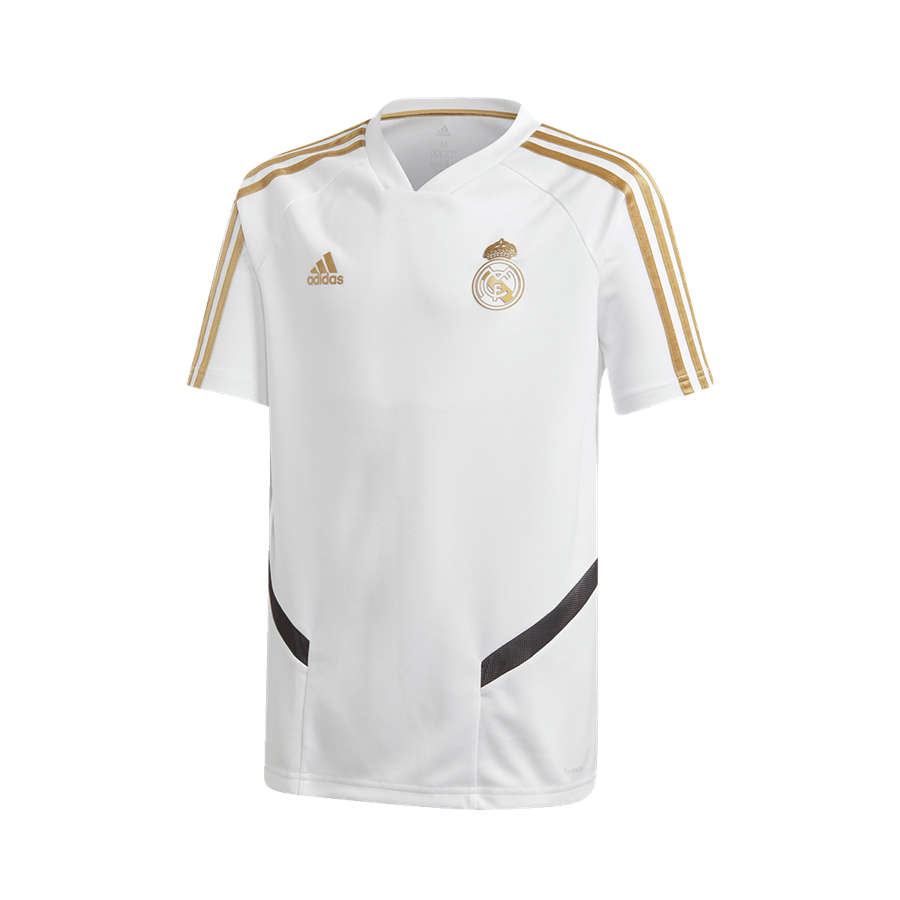 adidas Real Madrid Kinder Trainingsshirt weiß/gold Bild 2