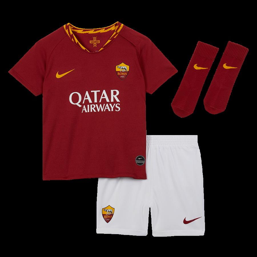 Nike AS Roma Baby Heim Kit 2019/20 rot/gelb Bild 2