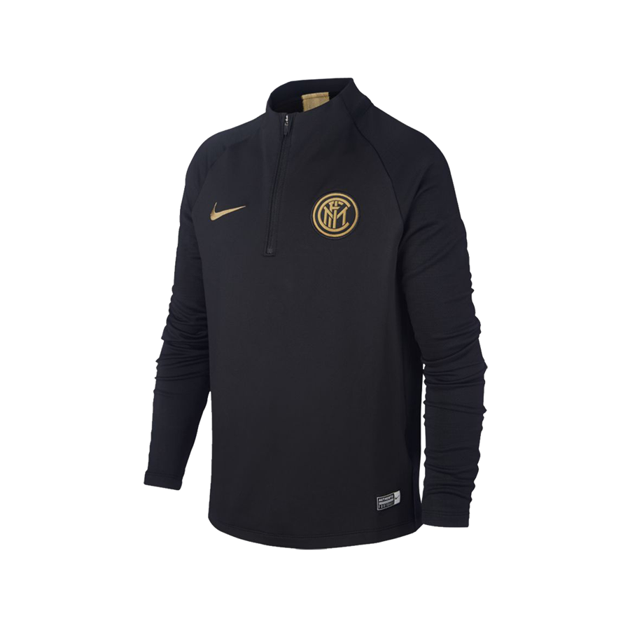Nike Inter Mailand Kinder Trainingsoberteil Strike Drill Top schwarz/gold Bild 2