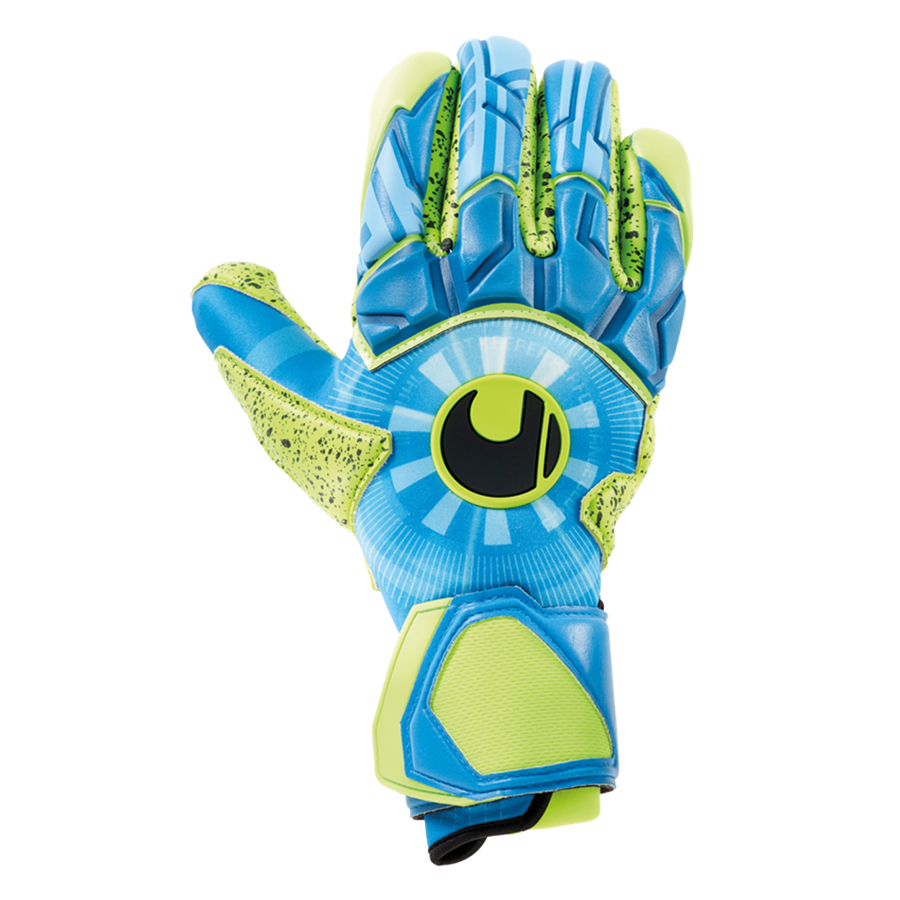 Uhlsport Torwarthandschuhe Radar Control Supergrip Finger Surround blau/gelb fluo Bild 2