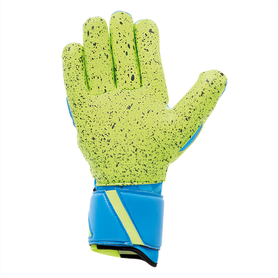 Uhlsport Torwarthandschuhe Radar Control Supergrip Finger Surround blau/gelb fluo