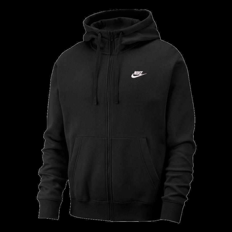 Nike Kapuzenjacke Sportswear Club Fleece BB Hoody schwarzweiß