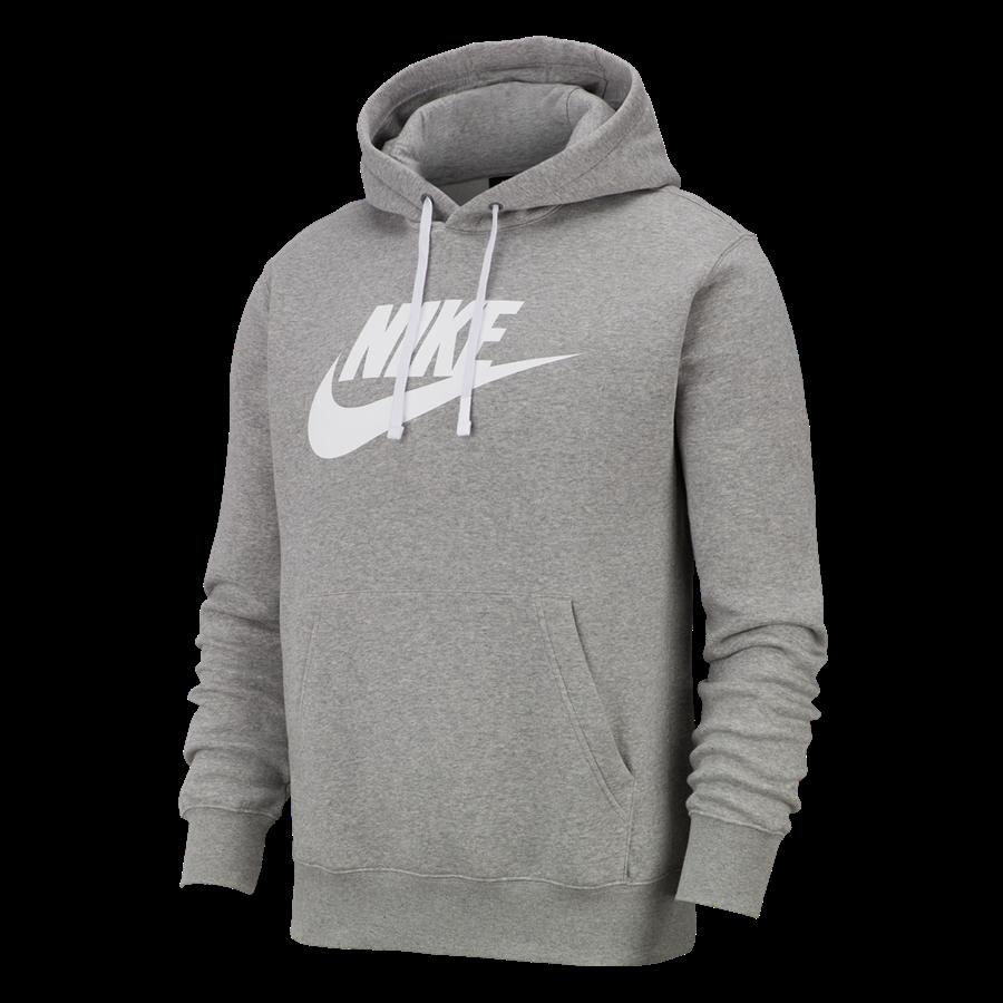Nike Kapuzenpullover Sportswear Graphic Club BB GX Hoody grau/weiß Bild 2
