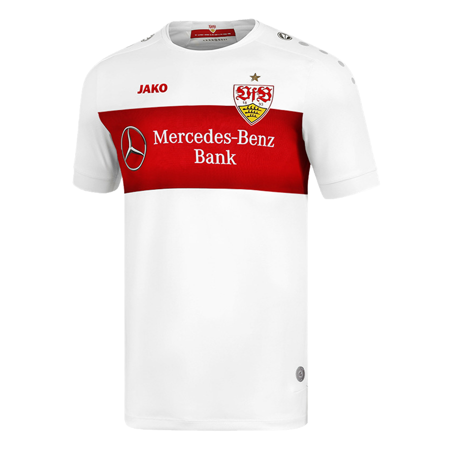 Jako VfB Stuttgart Herren Heim Trikot 2019/20 weiß/rot Bild 2