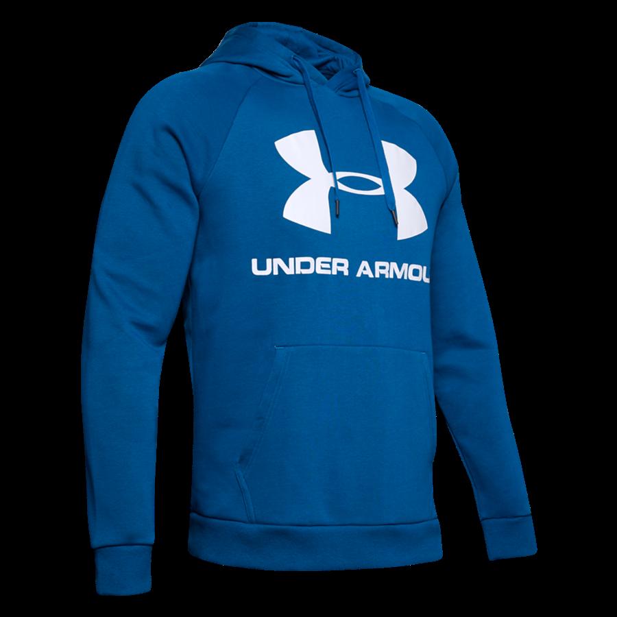 Under Armour Kapuzenpullover Sportstyle Rival Fleece Hoody blau/weiß Bild 2