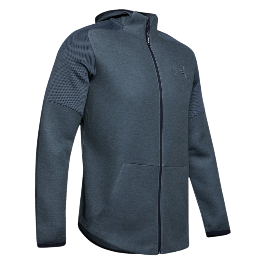 Under Armour Kapuzenjacke Unstoppable Move Light FZ dunkelgrau/schwarz Bild 2