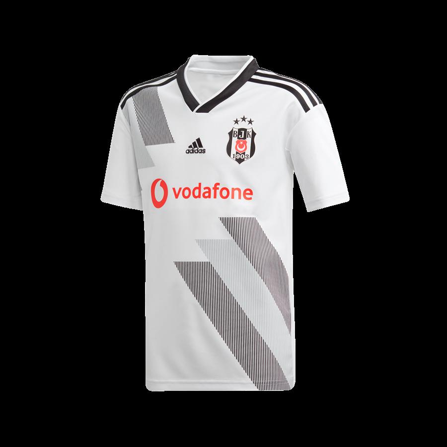 adidas Besiktas Istanbul Kinder Heim Trikot 2019/20 weiß/schwarz Bild 2