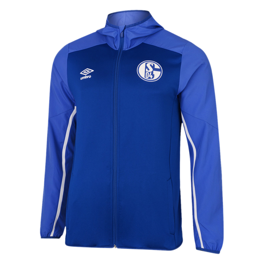 Umbro FC Schalke 04 Kapuzenjacke Hooded Jacket blau/weiß Bild 2