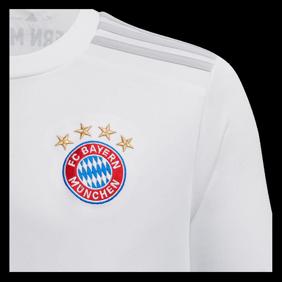 adidas FC Bayern München Kinder Auswärts Trikot 2019/20 weiß Bild 5