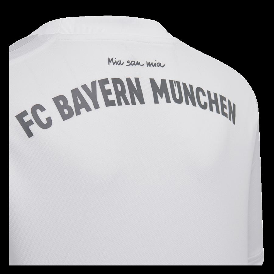 adidas FC Bayern München Kinder Auswärts Trikot 2019/20 weiß Bild 4