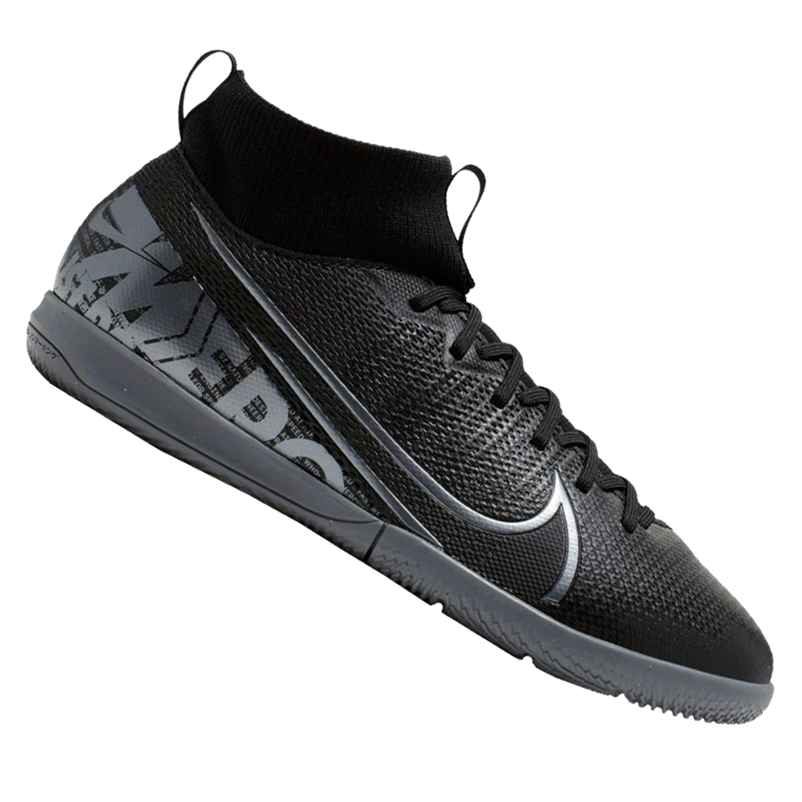 Nike Kinder Hallenschuh Mercurial Superfly VII JR Academy IC schwarz/grau Bild 2