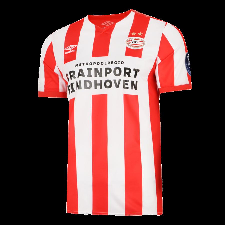 Umbro PSV Eindhoven Herren Heim Trikot 2019/20 weiß/rot Bild 2