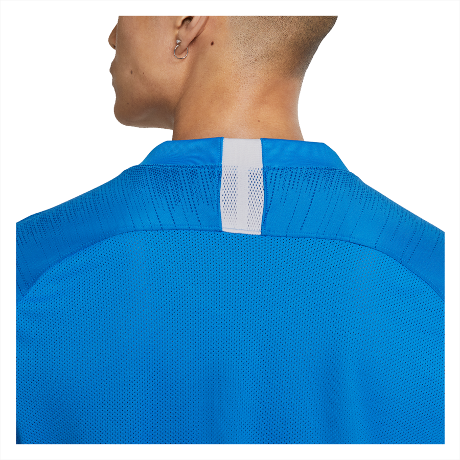 Nike Trainingsshirt Breathe Strike Top blau/weiß Bild 5