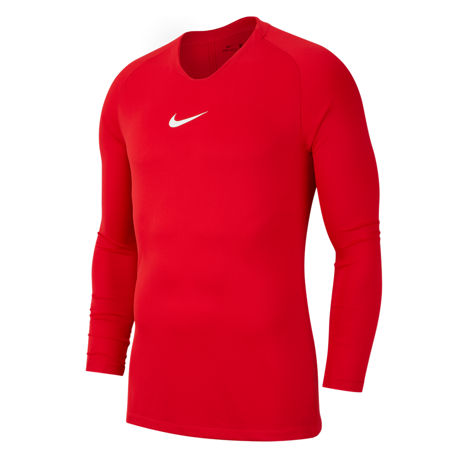 Nike Langarm Funktionsshirt Park First Layer rot/weiß