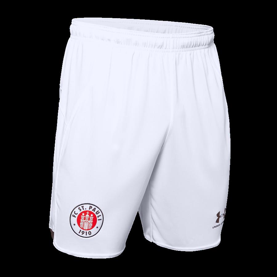 Under Armour FC St. Pauli Herren Auswärts Short 2019/20 weiß/braun Bild 2