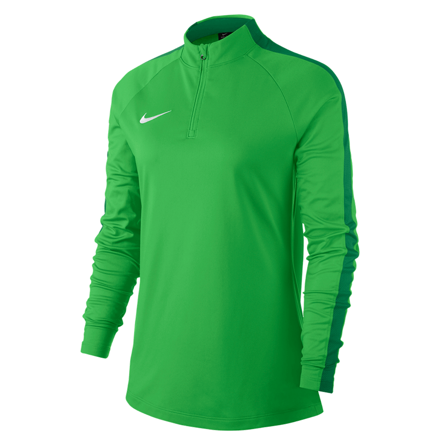 Nike Damen Trainingsoberteil Academy 18 Drill Top 1/4 Zip LS grün fluo/weiß
