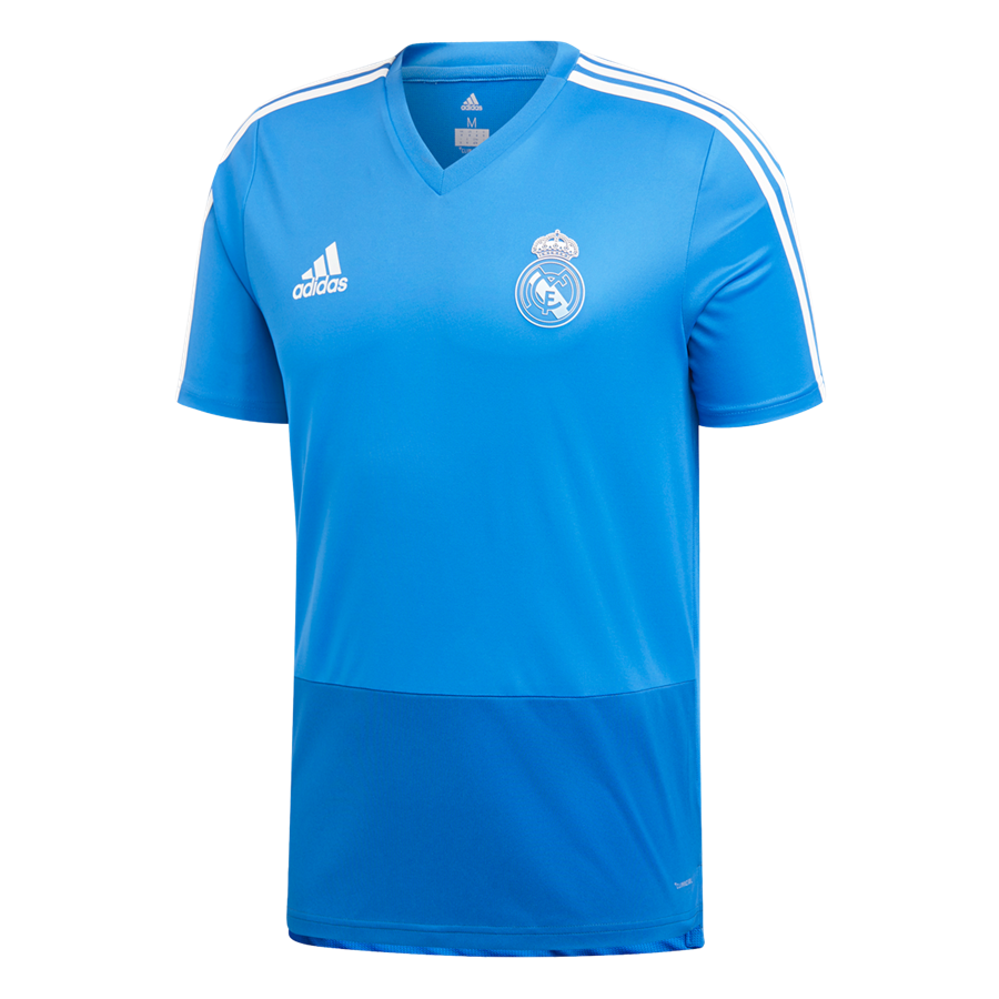 adidas Real Madrid Trainingsshirt blau/dunkelblau Bild 2