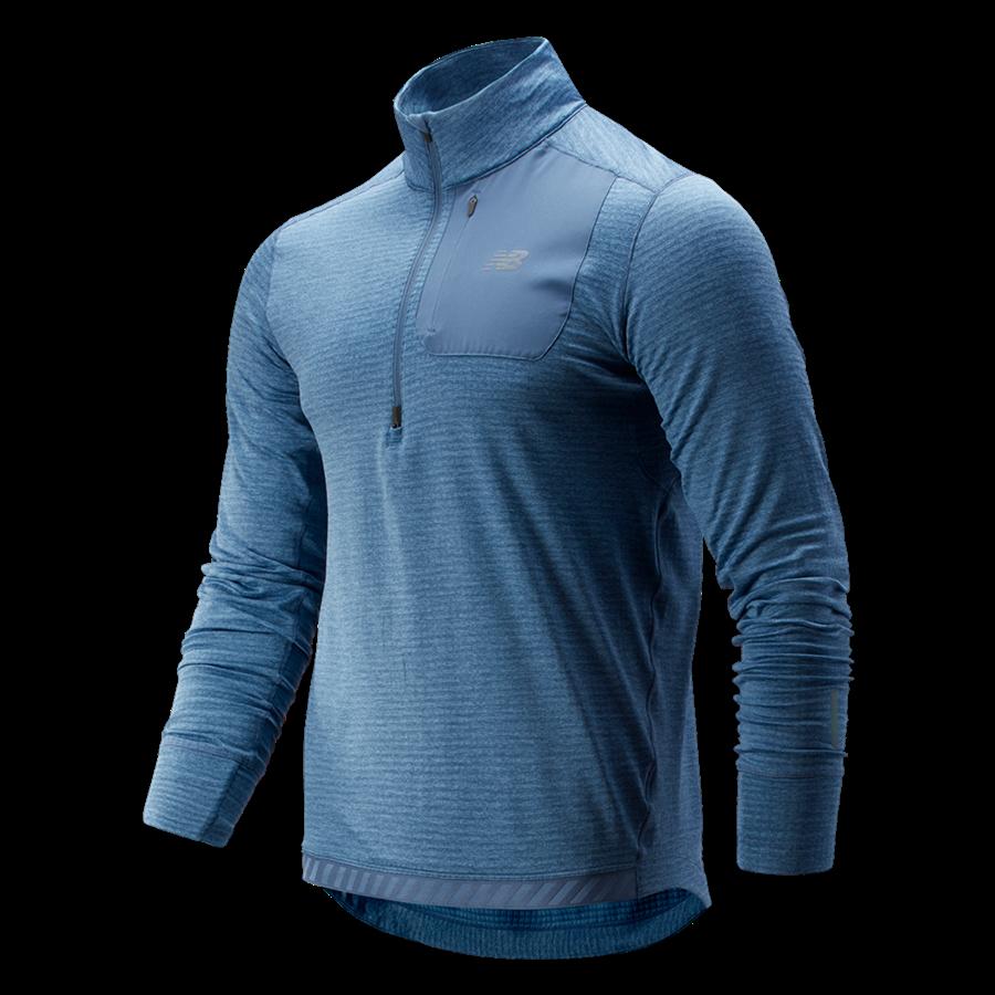 New Balance Laufoberteil Heat Qtr Zip blau/grau Bild 2