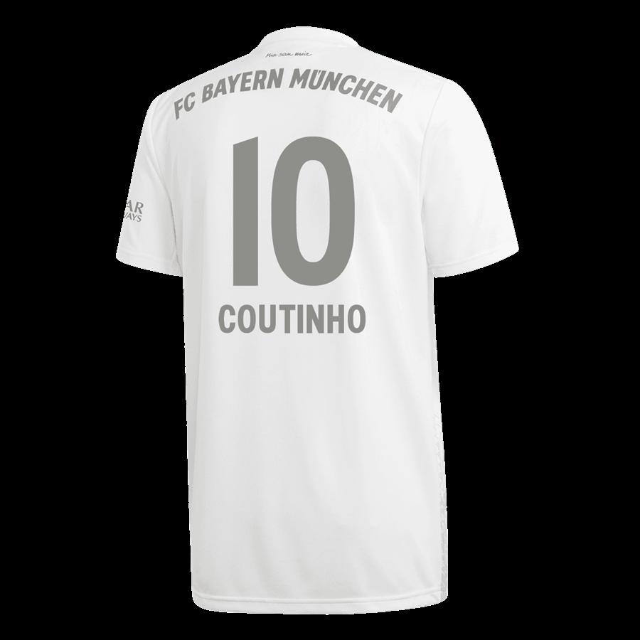 adidas FC Bayern München Herren Auswärts Trikot 2019/20 mit Coutinho Flock Bild 2