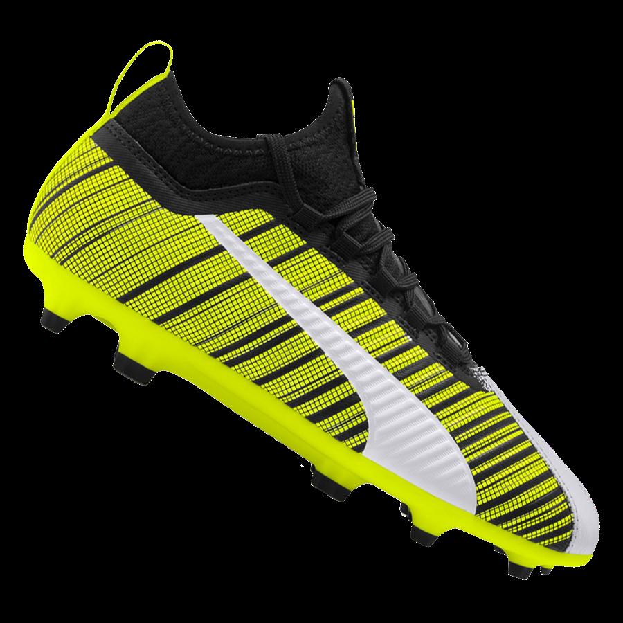Puma Kinder Fußballschuh One 5.3 FG/AG Jr. gelb fluo/schwarz Bild 2