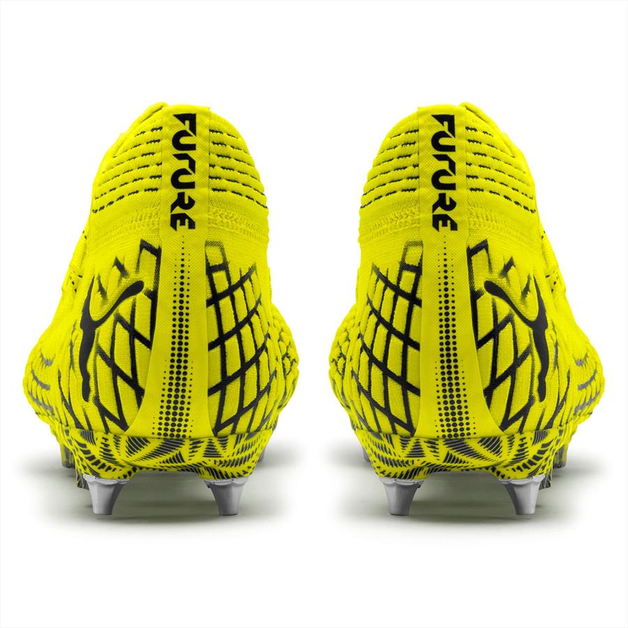 Puma Fußballschuh Future 4.1 Netfit Mx SG gelb fluo/schwarz Bild 6