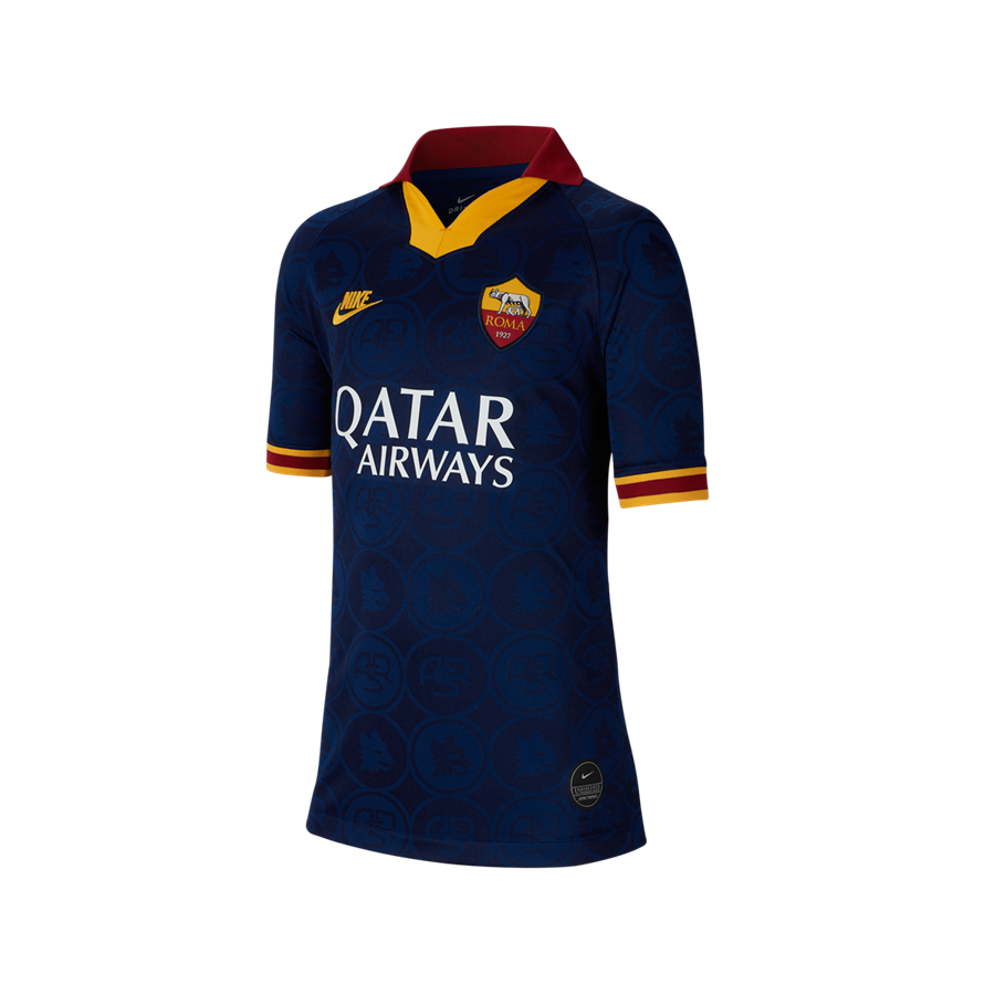 Nike AS Roma Kinder Champions League Trikot 2019/20 blau/gold