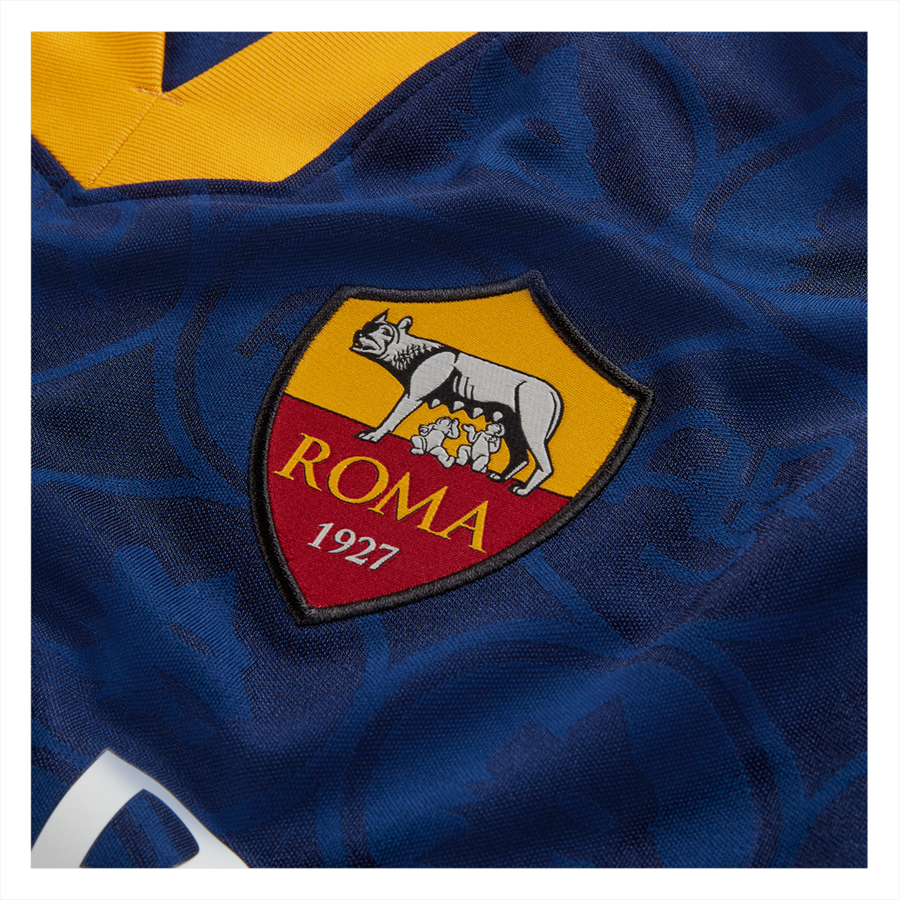 Nike AS Roma Kinder Champions League Trikot 2019/20 blau/gold Bild 4