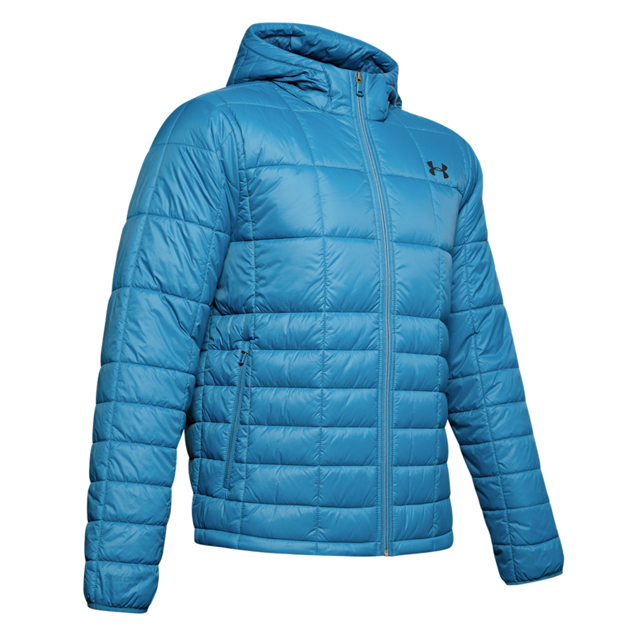 Under Armour Kapuzenjacke Thermo Insulated Hooded Jacket hellblau/schwarz